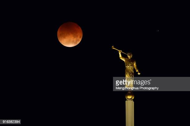 Angel Moroni Blowing a Red Bubble