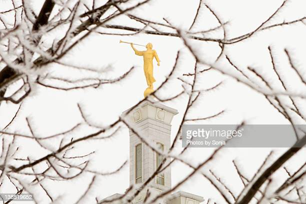Angel Moroni on LDS Temple