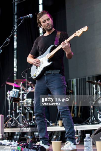 Angel Mosqueda from Zoe performs in concert at Las Noches del Botanico festival on July 19 2018 in Madrid Spain