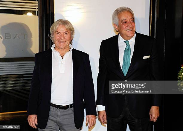 Angel Nieto and Juan Palacios attend the presentation of Rabat jewelry as new Rolex authorized distributor on December 10 2014 in Valencia Spain