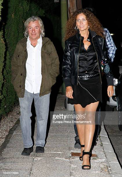 Angel Nieto and wife attend a private party at Javier Hidalgo's home on September 20 2010 in Madrid Spain