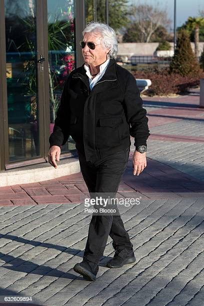 Angel Nieto attends the funeral chapel for Bimba Bose on January 24 2017 in Madrid Spain Bimba Bose died in Madrid at the age of 41 after losing her...