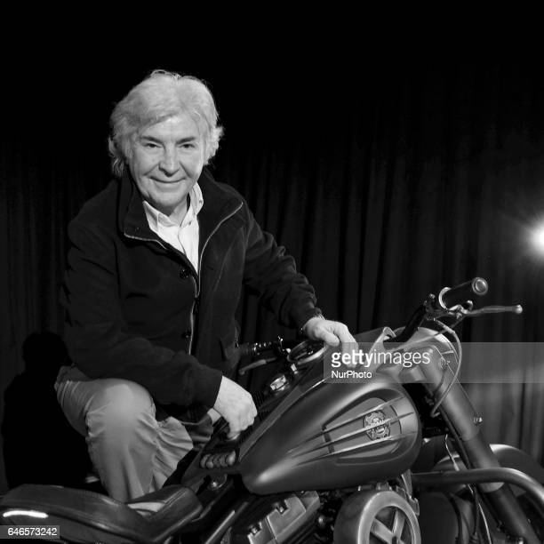 Angel Nieto attends the presentation quotthe motorcycle of Logan tribute to lobeznoquot in Madrid On February 28 2017 in Madrid Spain
