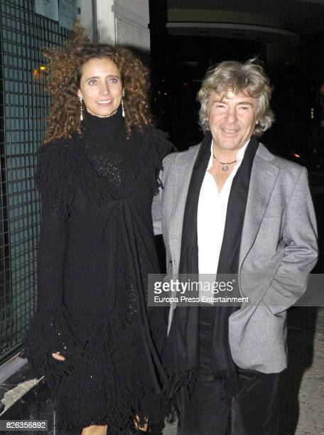 Angel Nieto iconic image with her second wife Belinda Alonso on August 3 2017 in Madrid Spain