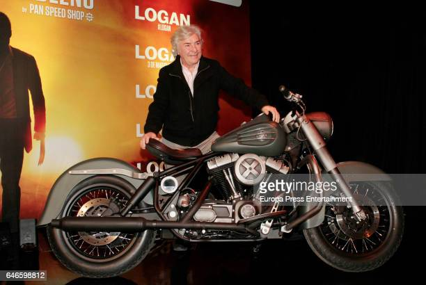 Angel Nieto presents 'The Logan's motorcycle an homage to Wolverine on February 28 2017 in Madrid Spain This special motorcycle has been made by Pan...