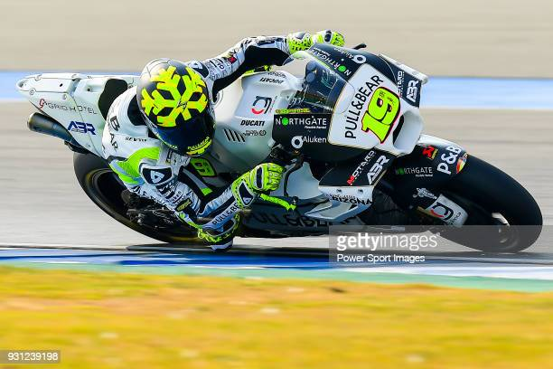 Angel Nieto Team's rider Alvaro Bautista of Spain rides during the MotoGP Official Test at Chang International Circuit on 16 February 2018 in Buriram...