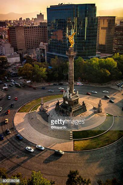 angel of independence mexico city - independence monument mexico city stock pictures, royalty-free photos & images