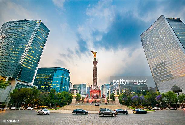 angel of independence - mexico city stock pictures, royalty-free photos & images
