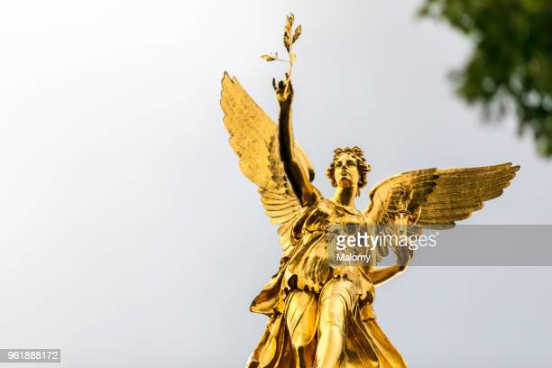 angel of peace monument. munich, bavaria, germany - mystic goddess stock photos and pictures