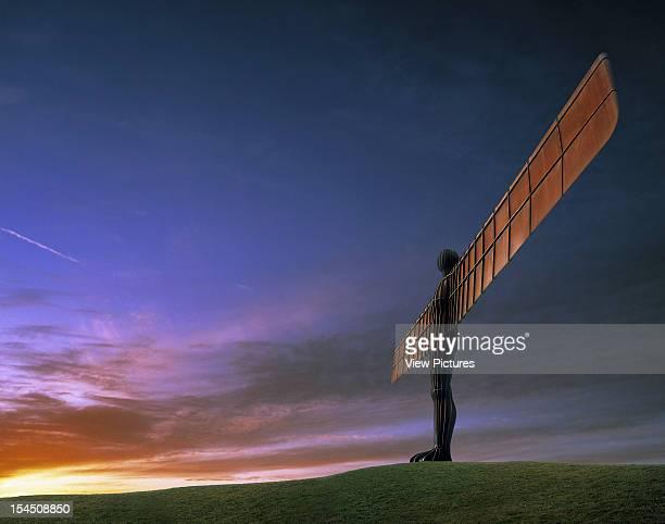 Angel Of The North, Gateshead, United Kingdom, Architect Antony Gormley , Antony Gormley The Angel Of The North At Sunset