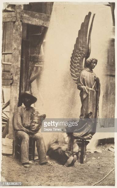 Angel of the Passion SainteChapelle Paris 185253 Salted paper print from paper negative 329 x 203 cm Photographs Auguste Mestral Serendipity...