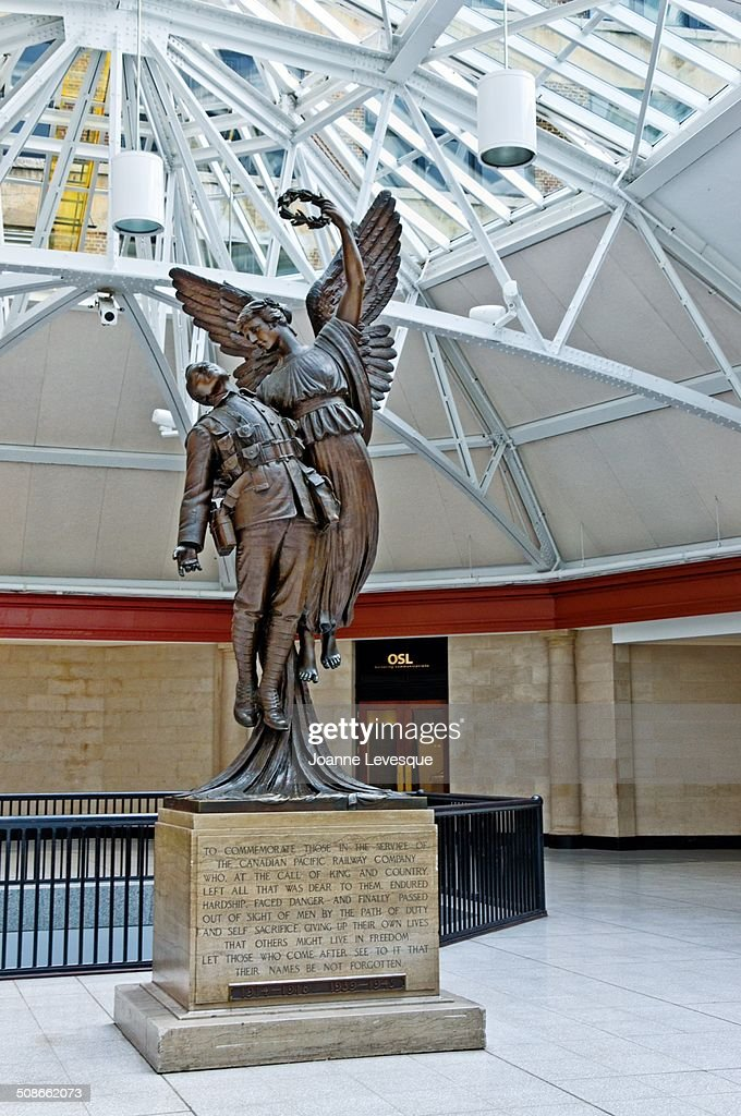 Angel of Victory World War 1 Memorial at Montreal's Windsor Station