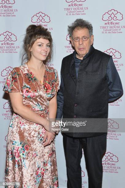 Angel Olsen and Philip Glass attend the afterparty of the 31st Annual Tibet House US Benefit Concert and Gala at Gotham Hall on March 3 2018 in New...