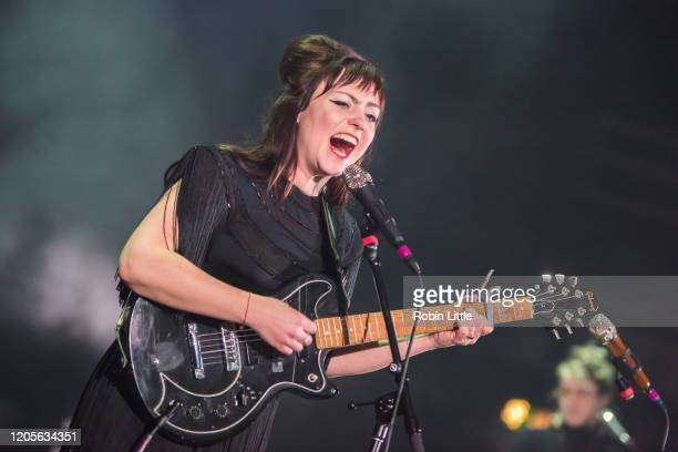 Angel Olsen performs at Eventim Apollo, Hammersmith on February 11, 2020 in London, England.