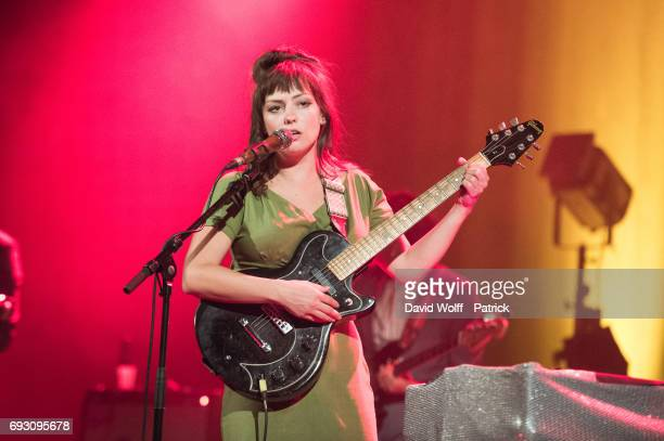 Angel Olsen performs at Le Trianon on June 6 2017 in Paris France