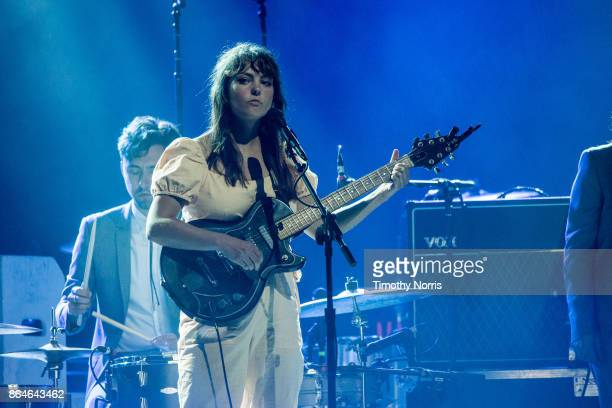 Angel Olsen performs at The Forum on October 20, 2017 in Inglewood, California.