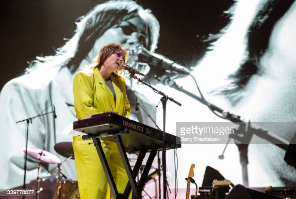 Angel Olsen performs during the 2021 Pitchfork Music Festival at Union Park on September 11, 2021 in Chicago, Illinois.