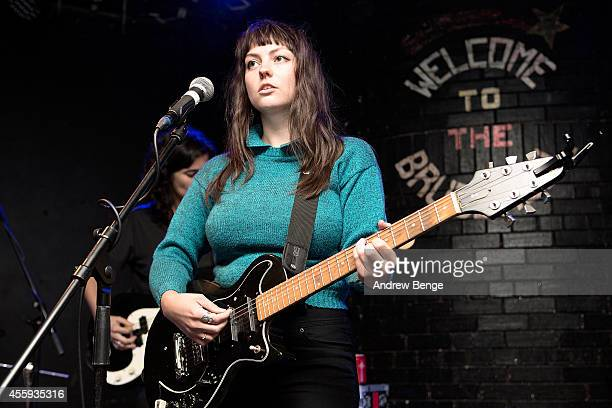 Angel Olsen performs on stage at Brudenell Social Club on September 22, 2014 in Leeds, United Kingdom.