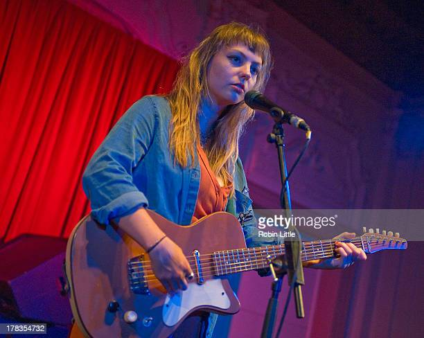Angel Olsen performs on stage at Bush Hall on August 29, 2013 in London, England.