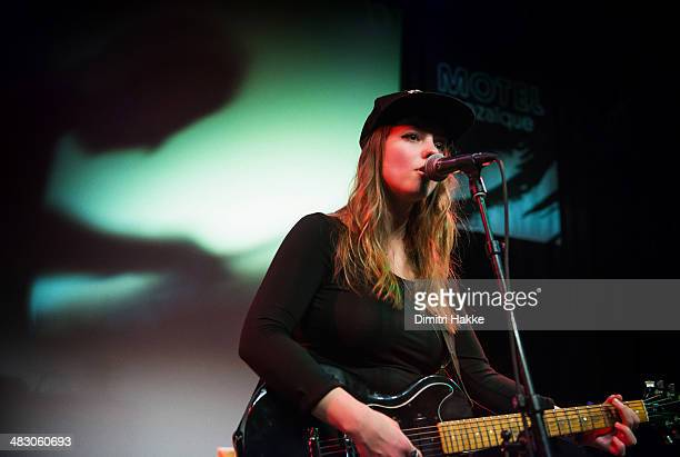 Angel Olsen performs on stage at De Gouvernestraat on April 5 2014 in Rotterdam Netherlands