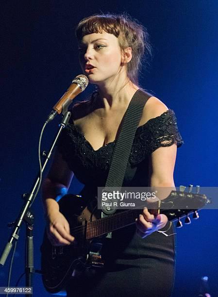 Angel Olsen performs on stage at El Rey Theatre on December 4 2014 in Los Angeles California