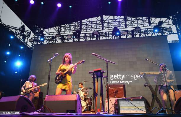 Angel Olsen performs onstage during day 1 of FYF Fest 2017 on July 21 2017 at Exposition Park in Los Angeles California