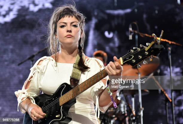 Angel Olsen performs onstage during the 2018 Coachella Valley Music And Arts Festival at the Empire Polo Field on April 21 2018 in Indio California