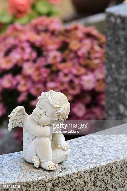 Angel on a tombstone.
