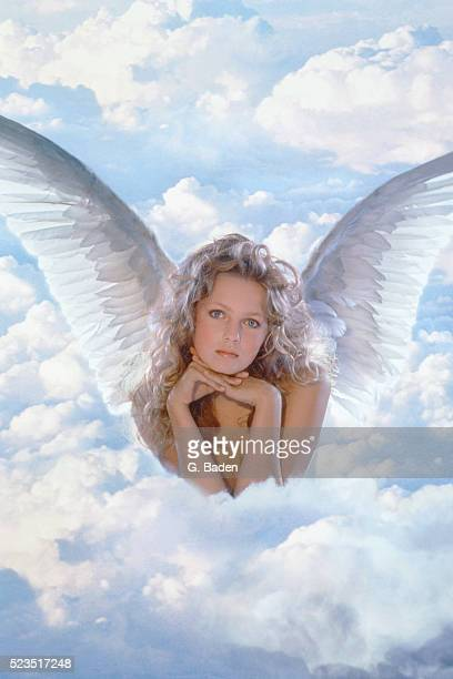 Angel on clouds