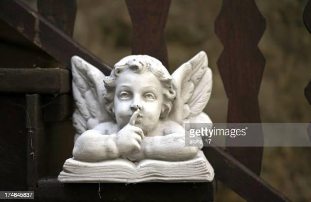 Angel on stairway