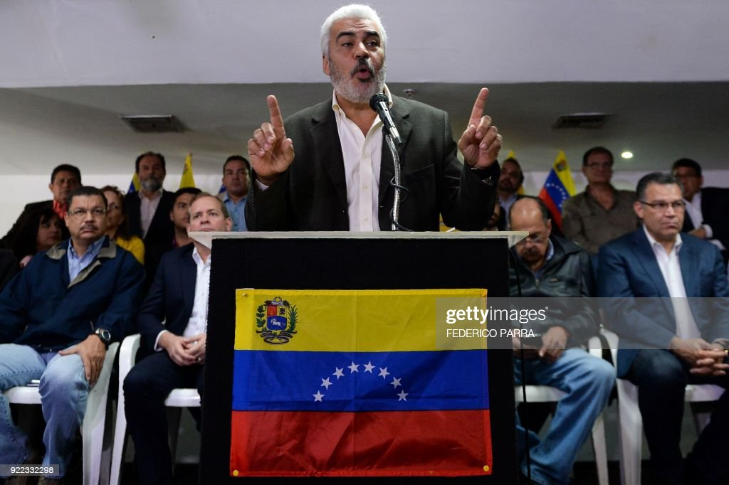 VENEZUELA-POLITICS-CRISIS-OPPOSITION : News Photo