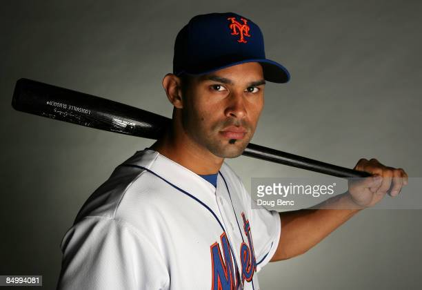 Angel Pagan of the New York Mets poses during photo day at Tradition Field on February 23 2009 in Port Saint Lucie Florida
