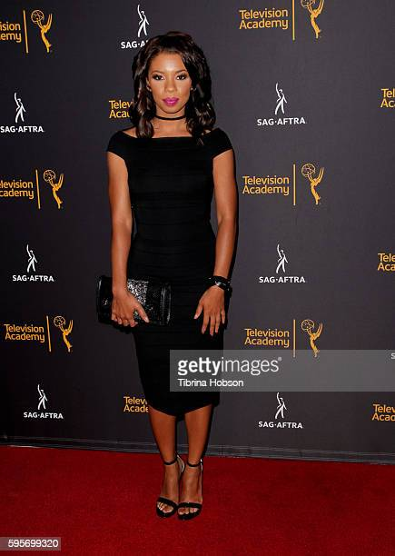Angel Parker attends the Television Academy and SAGAFTRA's 4th annual Dynamic and Diverse Celebration at Saban Media Center on August 24 2016 in...