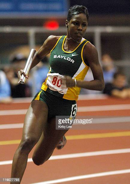Angel Perkins anchors Baylor's 4 x 400meter relay to a secondplace heat finish in 33901 in the New Balance Collegiate Invitational at the Armory in...