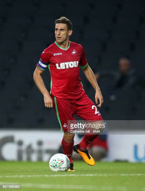 Angel Rangel of Swansea City during the Carabao Cup Second Round match between Milton Keynes Dons and Swansea City at StadiumMK on August 22 2017 in...