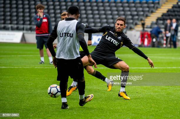 Angel Rangel of Swansea City in action during the Swansea City Training SessionThe Liberty Stadium on August 02 2017 in Swansea Wales