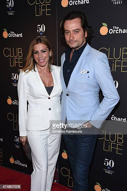 Angel Reed and actor Constantine Maroulis attend the 'Club Life' New York Screening at Regal Cinemas Union Square on May 26 2015 in New York City