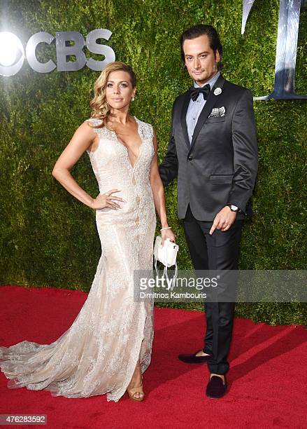 Angel Reed and Constantine Maroulis attend the 2015 Tony Awards at Radio City Music Hall on June 7 2015 in New York City