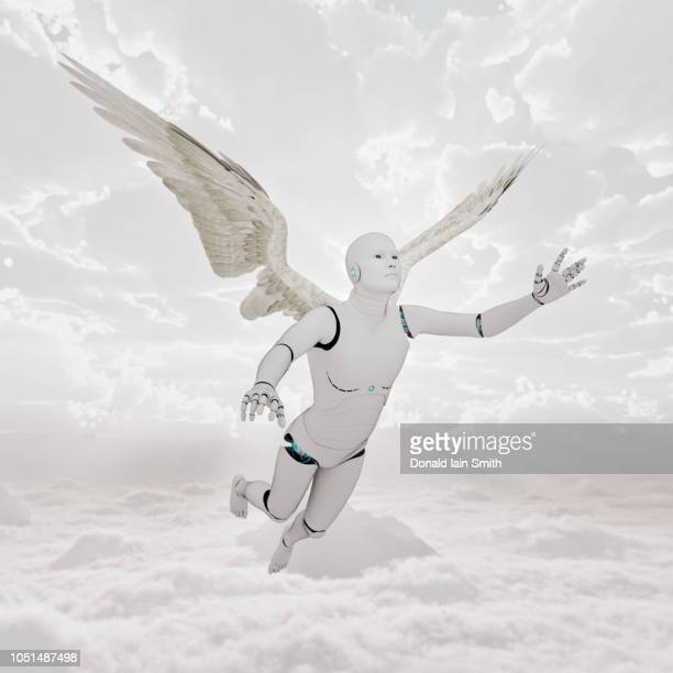 Angel robot with wings