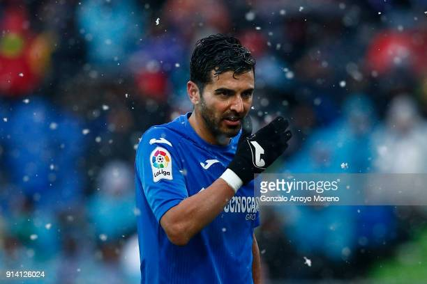 Angel Rodriguez Daz of Getafe CF reacts during the La Liga match between Getafe CF and Deportivo Leganes at Coliseum Alfonso Perez on February 4 2018...
