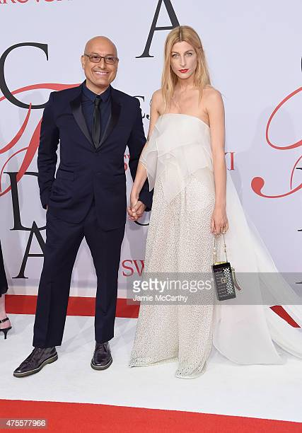 Angel Sanchez and Ada Kokosar attend the 2015 CFDA Fashion Awards at Alice Tully Hall at Lincoln Center on June 1 2015 in New York City
