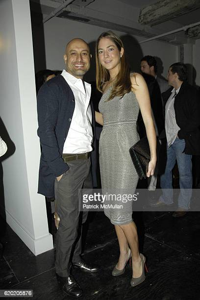 Angel Sanchez and Karina CorreaMaury attend The Latin American Health Foundation's New York Launch at 145 Avenue of the Americas on April 13 2008 in...