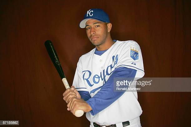 Angel Sanchez of the Kansas City Royals poses for a portrait during Spring Training Photo Day at Surprise Stadium on February 25 2006 in Surprise...