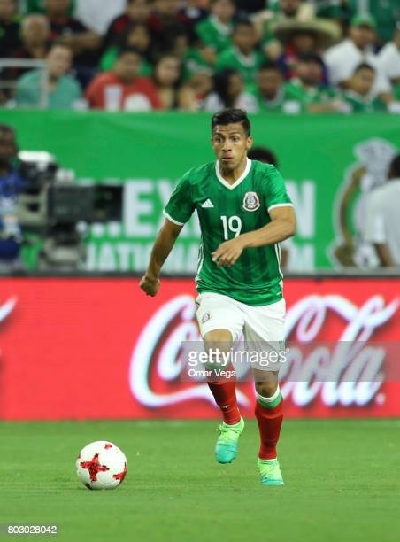Angel Sepulveda of Mexico plays the ball during the friendly match between Mexico and Ghana at NRG Stadium on June 28 2017 in Houston Texas