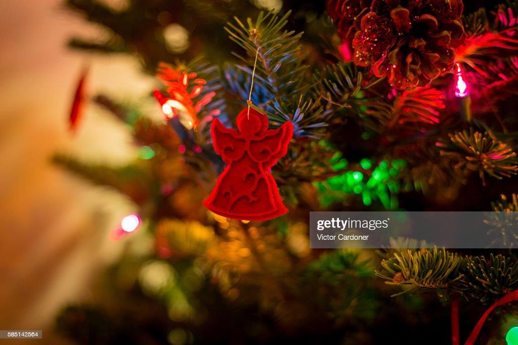 Angel Shaped Christmas Tree.Angel Shaped Christmas Tree Decorations Stock Photo Getty