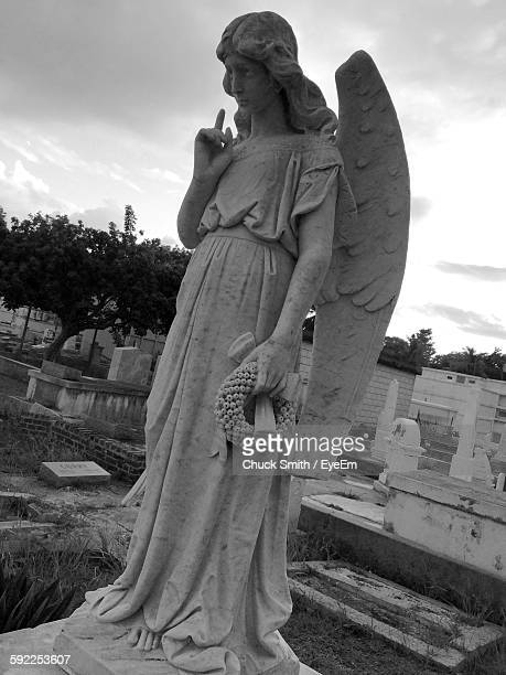 Angel Statue At Cemetery