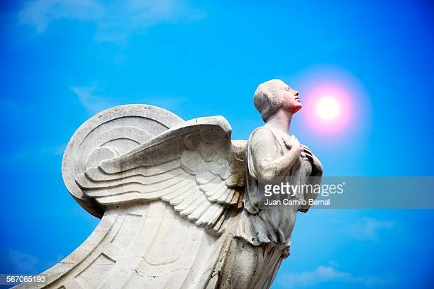 Angel statue during a sunny day
