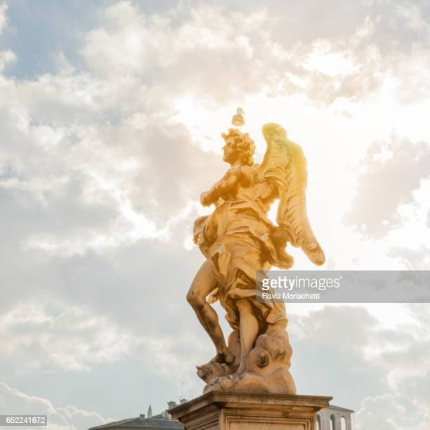 Angel statue from 'Ponte Sant'Angelo' in Rome, Italy