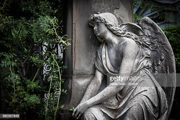 Angel Statue In Cemetery