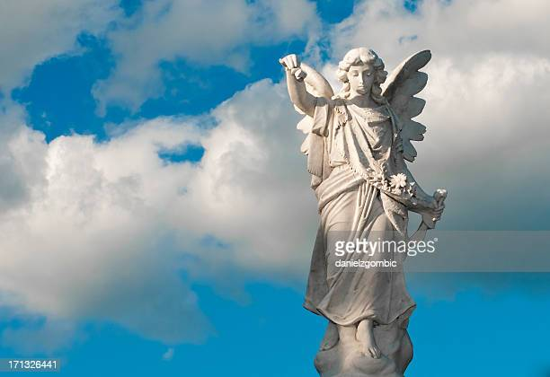 angel statue - religious saint stock pictures, royalty-free photos & images